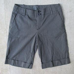 Banana Republic Striped Cuffed Bermuda Shorts
